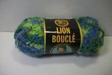 Lion Brand Chenille yarn acrylic blend #215 sapphire print 75 yd