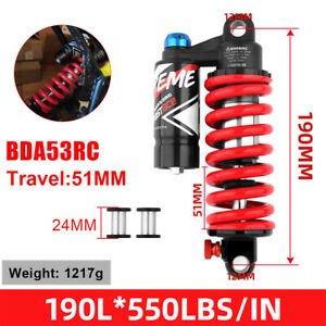 1PC DBA53RC Bicycle Shock Absorber MTB Bike Downhill Rear Shock 550lbs DH Shocks