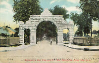 Postcard Entrance To Bay View New York Bay Cemeteries Jersey City New Jersey