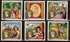 298 TCHAD serie 6 timbres oblitérés,La jeunesse de la princesse Lady Diana