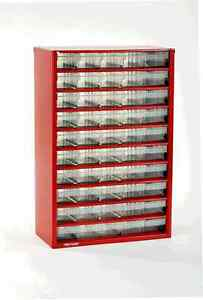 NEW! Limited Edition RAACO RED 50 x Drawer Storage/Organiser Cabinet EAN:127271