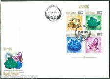 GUINEA BISSAU 2013 MINERALS SHEET  FIRST DAY COVER