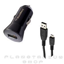 ADAPTADOR CARGADOR USB MECHERO BLACKBERRY ORIGINAL Z10 Q10 COCHE CABLE MICROUSB