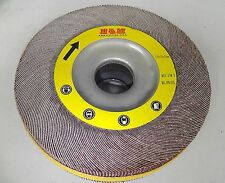 """10 Abrasive Flap Wheels 8-inch x 1"""" x 1"""" A/O 180 Grit Unmounted Sanding Disc"""