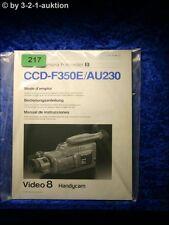Sony Bedienungsanleitung CCD F350E / AU230 Video 8 Camera Recorder (#0217)
