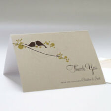 100 Love Birds Personalized Wedding Thank You Notes