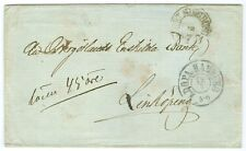 GREAT BRITAIN: Unpaid letter to Sweden via Hamburg 1861, postage due 45 öre.