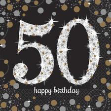50. Geburtstag Party Servietten Amscan Motivservietten Tisch Deko Dekoration