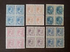 Philippines stamp Spain Colony  6 block of 4 mint original gum