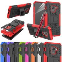 For Samsung Galaxy A8 Phone Case Shockproof Rugged Hybrid Stand Armor Back Cover