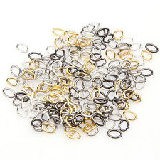Lot 1000pcs 4x5mm Circle Rings Findings Silver/Gold/Bronze for Jewelry Making