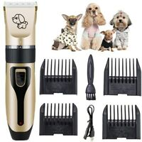 Dog Cat Pet Hair Clipper Shaver Trimmer Rechargeable Cordless Electric Grooming