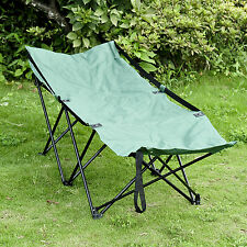 Portable Camping Bed Cot Hammock Adventure Camp Sleeping Cot Folding Steel w/Bag