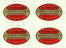 K.R. Wilson Water Transfer Decals (Set of 4) Ford Tools Model A T V8 V-8 KR KRW