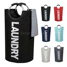 Large Oxford Laundry Washing Bag Basket Collapsible Fabric Foldable Hamper