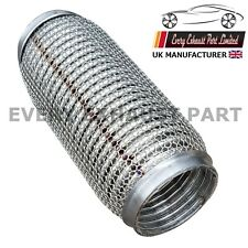 "3""x8"" Soft Exhaust Flex Tube Joint Soft Flexi Pipe 76mm x 200mm 100% stainless"