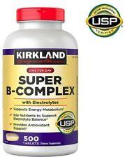Kirkland Signature Super B-Complex with Electrolytes, 500 Tablets, EXP 09/22