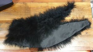 Black Feather Collar with button loops
