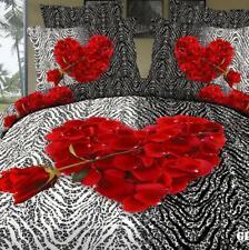 Rose Floral Soft Duvet Cover Quilt Cover  Comforter Bedding Set OEM Size 4pcs