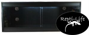 Repti-Life Vivarium 48x18x18 in Black, 4ft vivarium