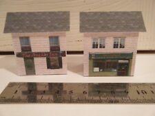 Basic Card Built Model Railway Buildings N Gauge Chinese Take-Away & Anchor Inn