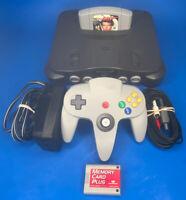 Nintendo 64 N64 OEM Console Bundle Controller Tight Joystick & Goldeneye 007