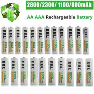 EBL AA AAA Wiederaufladbare Batterien 2800mAh 2300mAh 1100mAh 800mAh NI-MH AKKUS
