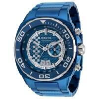 Invicta Men's Watch Speedway Quartz Silver and Blue Dial Steel Bracelet 33200
