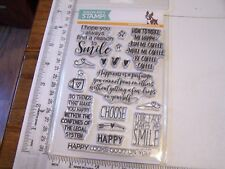 CHOOSE HAPPY Simon Says Stamp Clear Stamps Many Greetings Coffee Talk Smile
