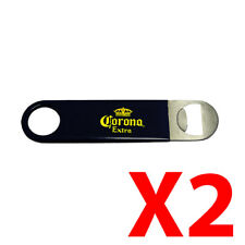 x2 Corona Extra Bar Blade Speed Beer Bottle Opener Stainless Steel PVC Coated
