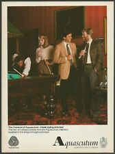 AQUASCUTUM - Classic styling at its best - 1981 Vintage Print Ad