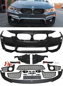 BMW F30 F31 saloon touring M3 style front bumper washers & lower splitter UK