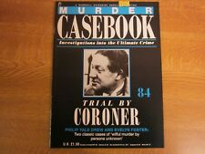 Philip Yale Drew, Evelyn Foster, MURDER CASEBOOK 84, Trial By Coroner.