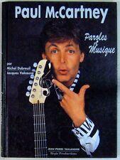 Beatles Paul McCartney Paroles et musique Taillandier 1993