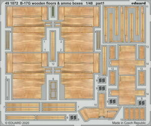 1/48 Boeing B-17G Flying Fortress Wooden Floors & Ammo Boxes Parts for HK Models