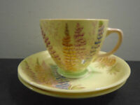 VINTAGE OLD ROYAL CHINA ENGLAND CUP AND SAUCER SET LOT OF 3