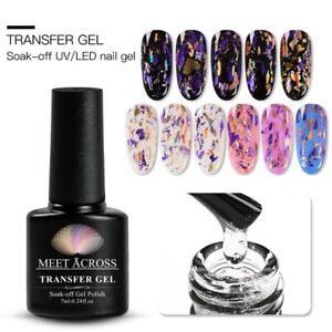 7ml MEET ACROSS Transfer Gel Soak Off UV LED Nail Art Polish Glue Foil Adhesive