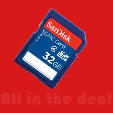 New SanDisk 32GB SD SDHC Class 4 Camera Flash Memory Card 32 G SDSDB-032G