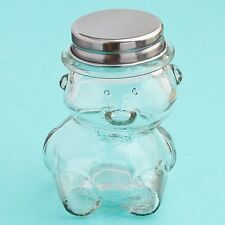 40 Plain / Diy Glass Teddy Bear Jars Baby Shower Favors