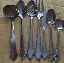 Supreme Cutlery Hostess Serving 7 Pc Set Stainless Flatware Made In Japan*