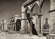1925 Vintage JERUSALEM Temple Stone Column Architecture ISRAEL Palestine ~ Art
