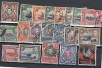 Kenya Uganda & Tanganyika 1938/50 Definitive Set To £1 SG131/152 FU JK2044