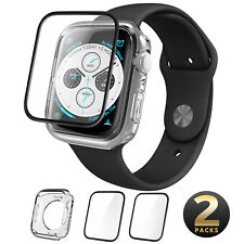 i-Blason For Apple Watch 5/4 44mm Clear Soft TPU Case Cover+2 Tempered Glass SP