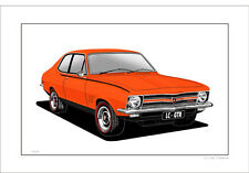 HOLDEN  LC GTR TORANA LIMITED EDITION  CAR DRAWING PRINT  ( 5 CAR COLOURS )