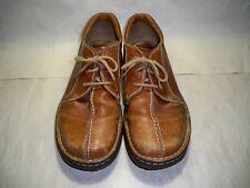 Dr-Martens-Doc-8B16-Camel-Brown-Leather-Split-Toe-Casual-Oxfords-Shoes-Men's 11