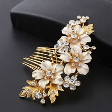 Wedding Bridal Hair Combs Vintage Imitation Crystal Hairpins Prom Jewelry G M8h9