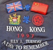 "VTG Emboidered Large T-shirt, Hong Kong-China ""A Day To Remember"", July 1,1997"