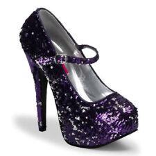 36 Scarpe da donna viola con tacco altissimo (oltre 11 cm)