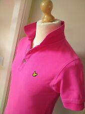 Lyle & Scott Polo Shirt Top Designer Mens Size Slim S Pink Cotton Cooool!
