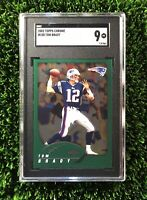 2002 Topps Chrome #100 Tom Brady New England Patriots SGC 9 (=PSA) POP 4